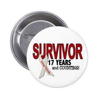 Superviviente del cáncer de pulmón 17 años pin