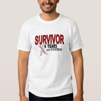 Superviviente del cáncer de pulmón 5 años poleras