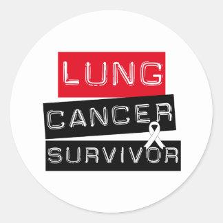 Superviviente del cáncer de pulmón pegatina redonda