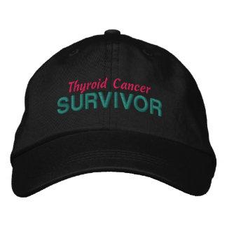 Superviviente del cáncer de tiroides gorra de beisbol