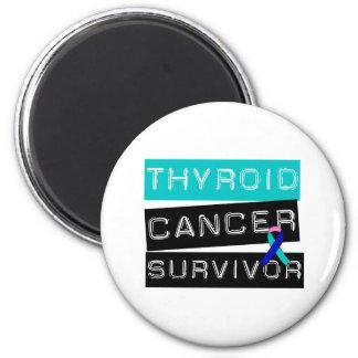 Superviviente del cáncer de tiroides imán redondo 5 cm