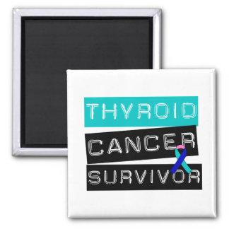 Superviviente del cáncer de tiroides imán cuadrado