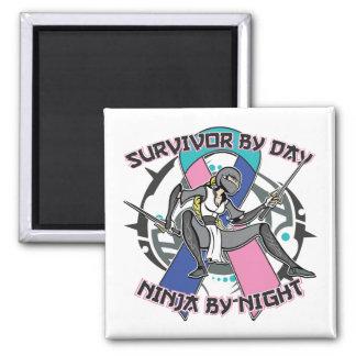 Superviviente del cáncer de tiroides por el día Ni Imán Cuadrado