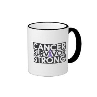 Superviviente del cáncer del linfoma de Hodgkins f Tazas