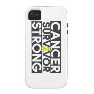 Superviviente del cáncer del osteosarcoma fuerte iPhone 4/4S carcasas