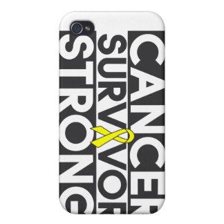 Superviviente del cáncer del osteosarcoma fuerte iPhone 4 cobertura