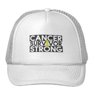 Superviviente del cáncer del osteosarcoma fuerte gorros