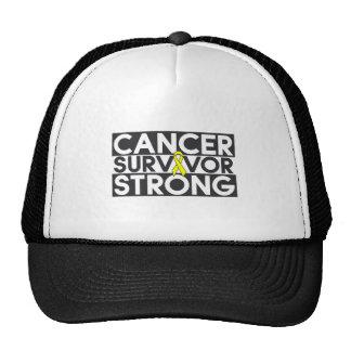 Superviviente del cáncer del osteosarcoma fuerte gorros bordados