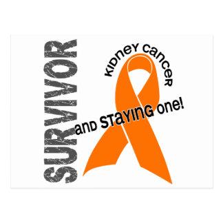 Superviviente del cáncer del riñón tarjeta postal