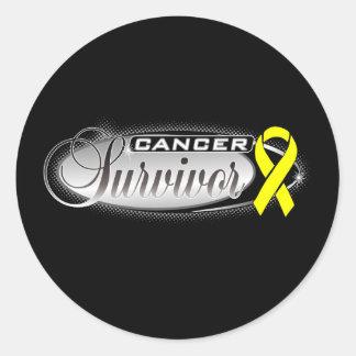 Superviviente del cáncer del sarcoma pegatina redonda