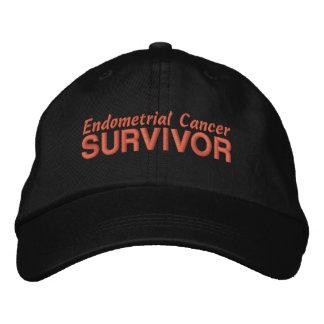 Superviviente del cáncer endometrial gorra de beisbol bordada