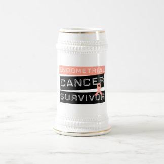 Superviviente del cáncer endometrial tazas