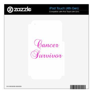 Superviviente del cáncer iPod touch 4G calcomanía