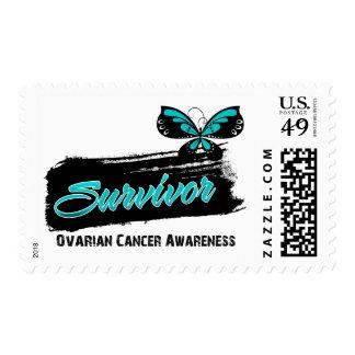 Superviviente del cáncer ovárico de la mariposa sello
