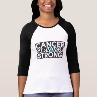 Superviviente del cáncer ovárico fuerte tshirts
