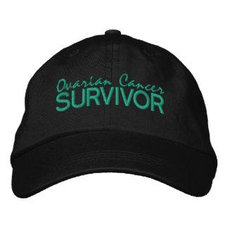 Superviviente del cáncer ovárico gorras de béisbol bordadas