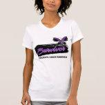 Superviviente del cáncer pancreático de la maripos camisetas