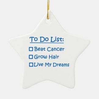 Superviviente del cáncer para hacer la lista adorno para reyes