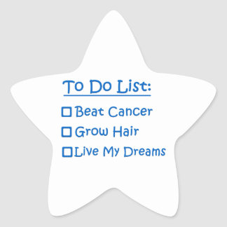 Superviviente del cáncer para hacer la lista pegatina en forma de estrella