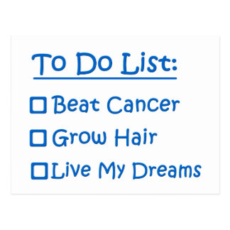 Superviviente del cáncer para hacer la lista postales