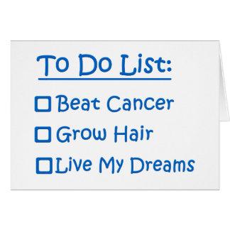Superviviente del cáncer para hacer la lista tarjeta pequeña