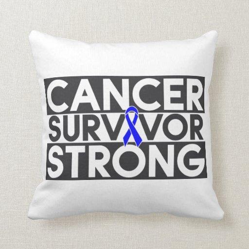 Superviviente del cáncer rectal fuerte cojines