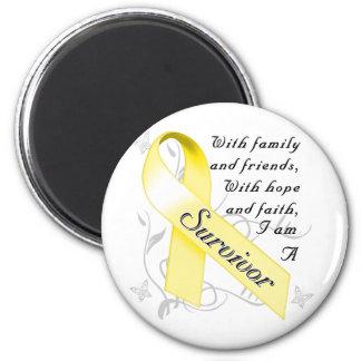 Superviviente del cáncer testicular imán redondo 5 cm