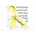 Superviviente del cáncer testicular tarjeta postal