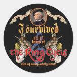Superviviente del ciclo del anillo etiqueta redonda