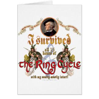 Superviviente del ciclo del anillo felicitacion