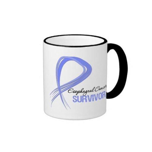 Superviviente del esófago del cáncer de la cinta d taza de café
