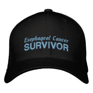 Superviviente del esófago del cáncer gorra de béisbol bordada