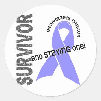 Superviviente del esófago del cáncer etiquetas redondas