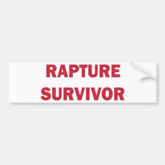 Superviviente del éxtasis etiqueta de parachoque