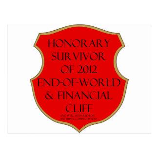 Superviviente del extremo 2012 del mundo y postales