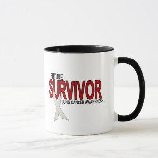 Superviviente del futuro del cáncer de pulmón taza