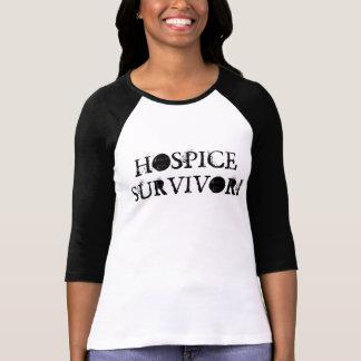 ¡SUPERVIVIENTE DEL HOSPICIO! 3/4 camiseta de la Playera