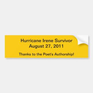 Superviviente del huracán etiqueta de parachoque