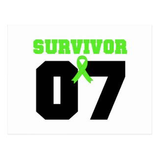 Superviviente del LINFOMA 07 años Tarjeta Postal