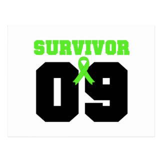 Superviviente del LINFOMA 09 años Tarjeta Postal