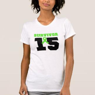 SUPERVIVIENTE del linfoma 15 años Camisetas