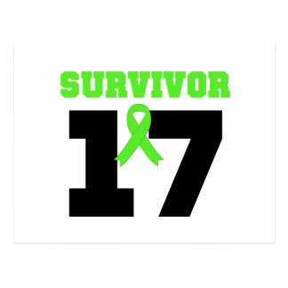 Superviviente del LINFOMA 17 años Tarjeta Postal