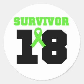 Superviviente del LINFOMA 18 AÑOS de regalos Etiquetas Redondas