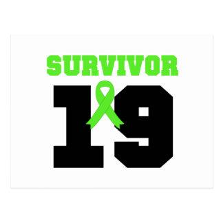 Superviviente del LINFOMA 19 años Tarjeta Postal