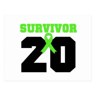 Superviviente del LINFOMA 20 años de regalos Postal
