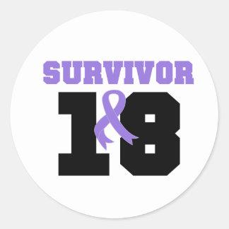 Superviviente del linfoma de Hodgkins 18 años Etiqueta Redonda