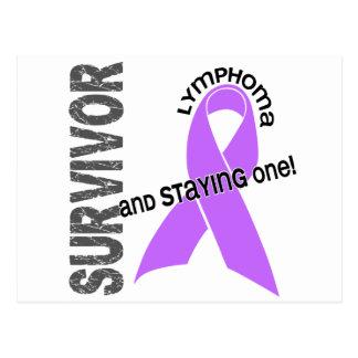 Superviviente del linfoma tarjeta postal