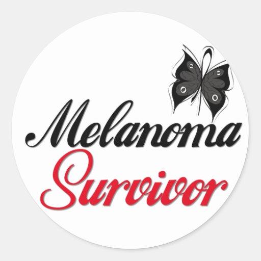 Superviviente del melanoma pegatina redonda