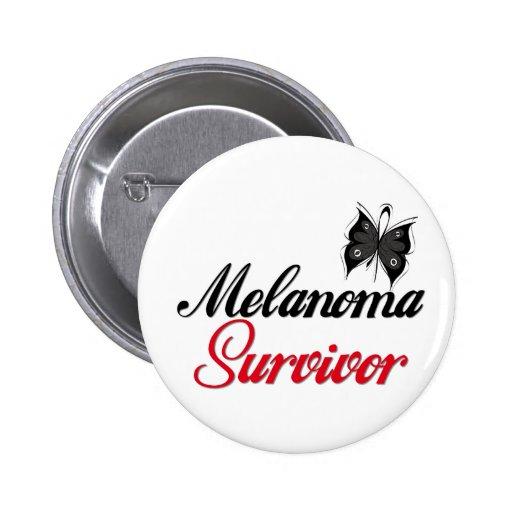 Superviviente del melanoma pin redondo de 2 pulgadas