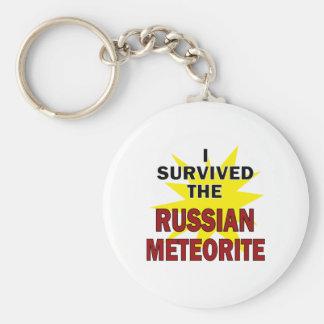 Superviviente del meteorito llavero redondo tipo pin